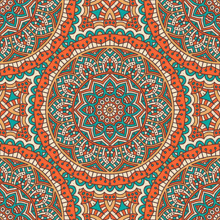 arabic background: Ethnic floral seamless pattern. Abstract ornamental pattern Illustration