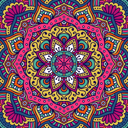 Ornament beautiful  card with mandala. Geometric circle element made in vector Фото со стока - 45100978