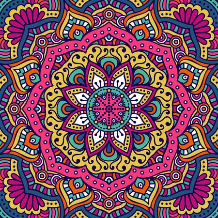 Ornamento tarjeta hermosa con la mandala. Elemento círculo geométrico hecho en vector Foto de archivo - 45100978