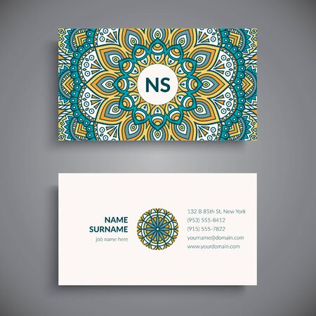 my name is: Business card. Vintage decorative elements. Hand drawn background Illustration