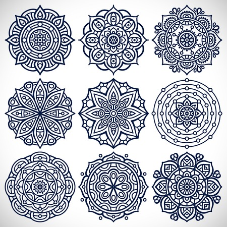 Ornament beautiful  card with mandala. Geometric circle element made in vector Фото со стока - 48060772