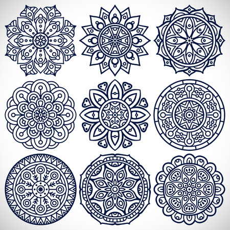 mandala tattoo: Ornament beautiful  card with mandala. Geometric circle element made in vector