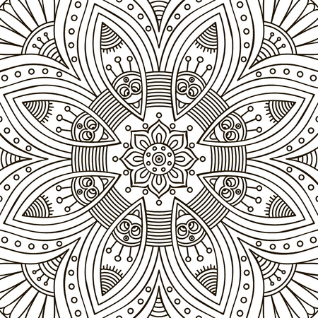 islamic design: Ornament beautiful  card with mandala. Geometric circle element made in vector