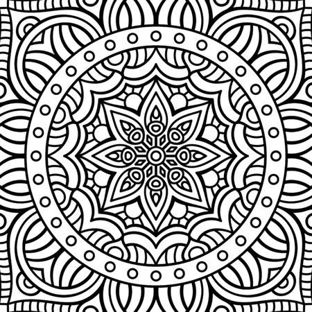 elementos: Ornamento tarjeta hermosa con la mandala. Elemento círculo geométrico hecho en vector Vectores