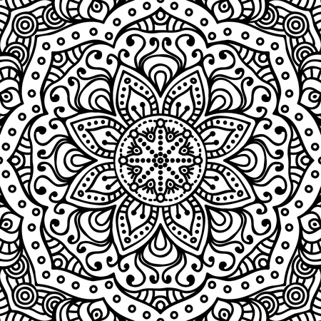 ornamental elements: Ornament beautiful  card with mandala. Geometric circle element made in vector