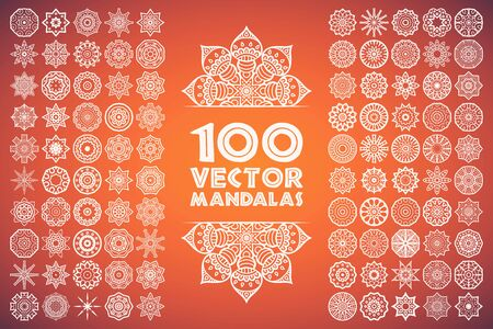 mandala tattoo: Ornament beautiful  card with mandala. Geometric circle element made in vector