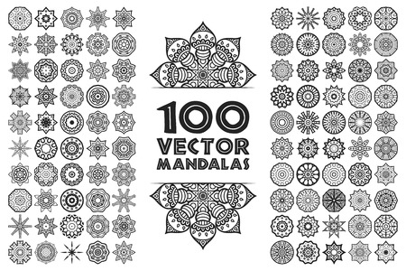 circle pattern: Ornament beautiful  card with mandala. Geometric circle element made in vector