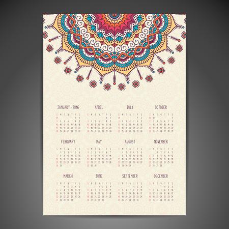 calendrier: Vintage �l�ments d�coratifs. Ornement floral cartes de visite