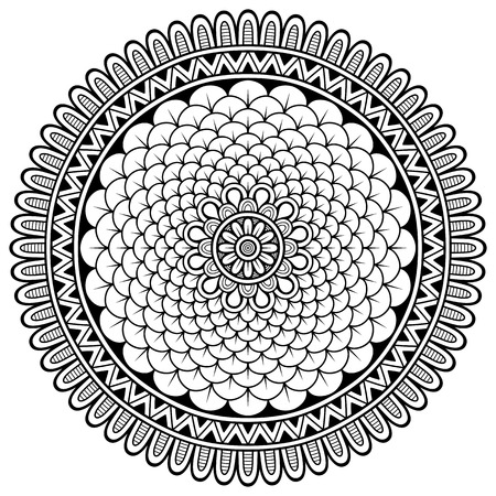 mandala flower: Ornament beautiful  card with mandala. Geometric circle element made in vector