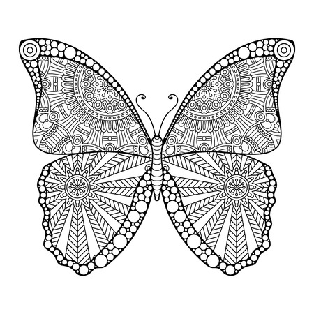 Ornament beautiful  card with Butterfly. Geometric element made in vector 向量圖像
