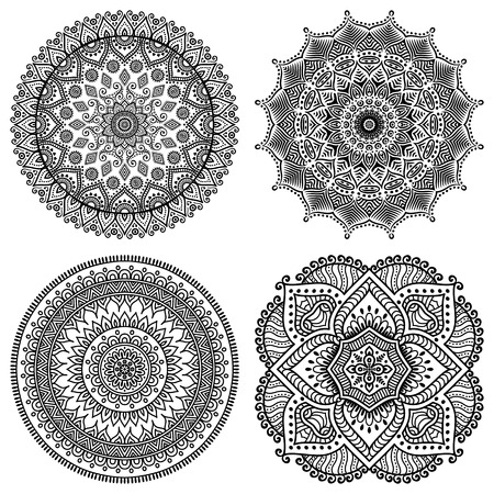 design pattern: Ornament beautiful  card with mandala. Geometric circle element made in vector