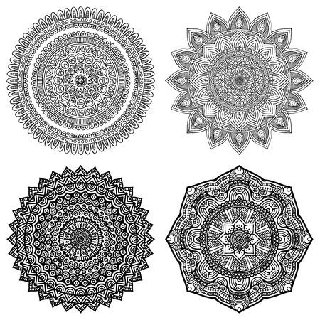 circles pattern: Ornament beautiful  card with mandala. Geometric circle element made in vector