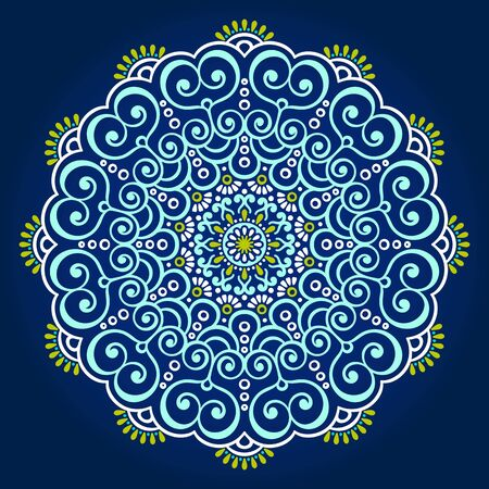 arabic frame: Ornament beautiful  card with mandala. Geometric circle element made in vector