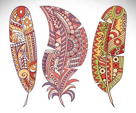 Vector background. Vintage decorative elements. Hand drawn background Vector Illustration