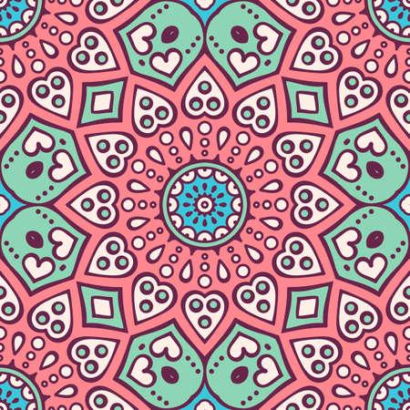 Ethnischen floral nahtlose Muster. Abstrakt muster
