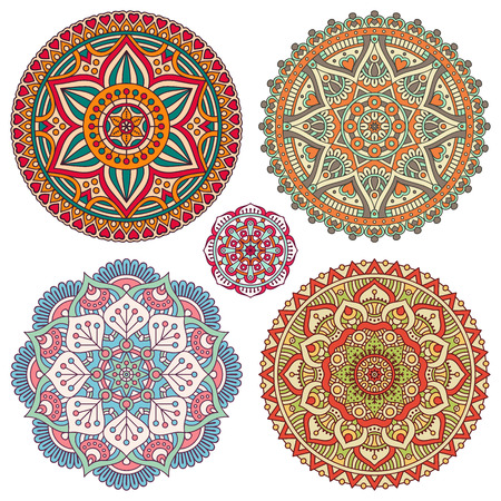indian pattern: Ornament beautiful  card with mandala. Geometric circle element made in vector