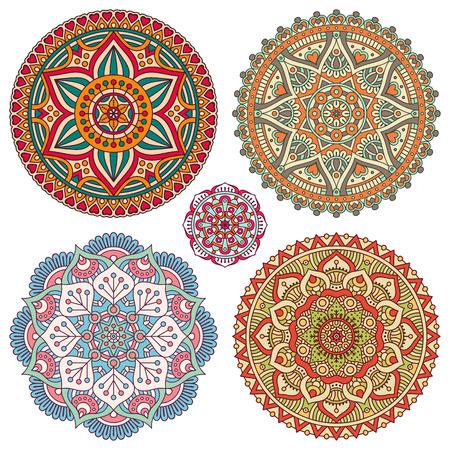 tribal pattern: Ornament beautiful  card with mandala. Geometric circle element made in vector