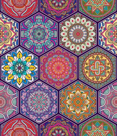 Ethnic seamless floral. Résumé motif ornemental