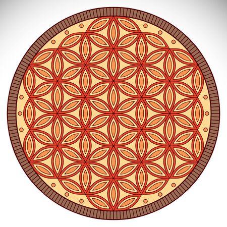 Ornament beautiful card with mandala. Geometric circle element made in vector Vektorové ilustrace