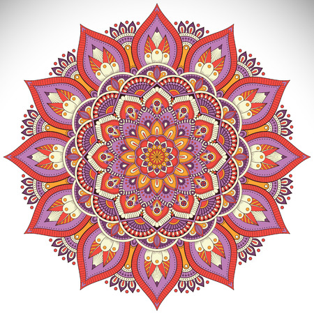 Ornament beautiful card with mandala. Geometric circle element made in vector Stok Fotoğraf - 57314436