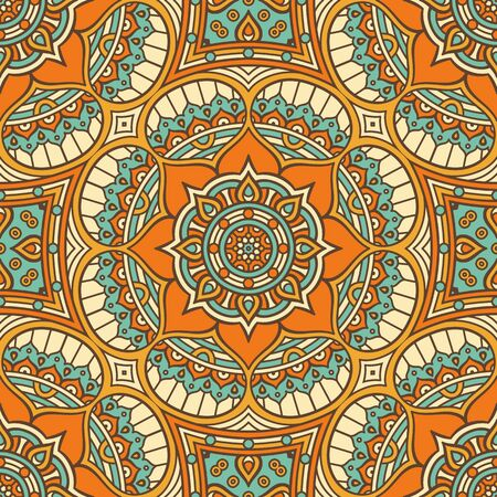 Ethnic floral seamless pattern. Abstract ornamental pattern Stock Illustratie