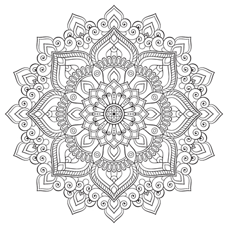 Ornament beautiful card with mandala. Geometric circle element made in vector Imagens - 57322665