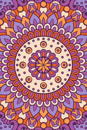 Ornament beautiful card with mandala. Geometric circle element made in vector. Coloring page Illustration