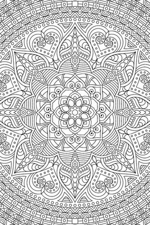 Ornament Schöne Karte Mit Mandala. Geometrische Kreis Element In ...