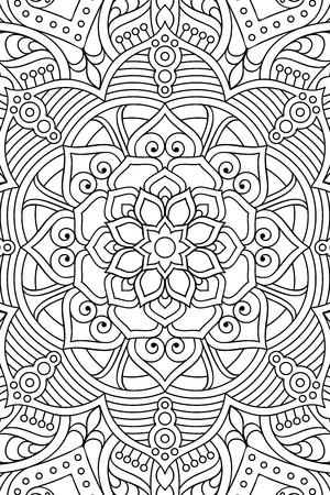 Ornamento Tarjeta Hermosa Con Mandala. Círculo Elemento Geométrico ...
