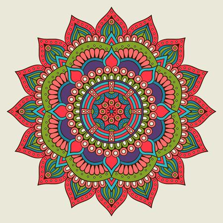 Ornament beautiful card with mandala. Geometric circle element made in vector