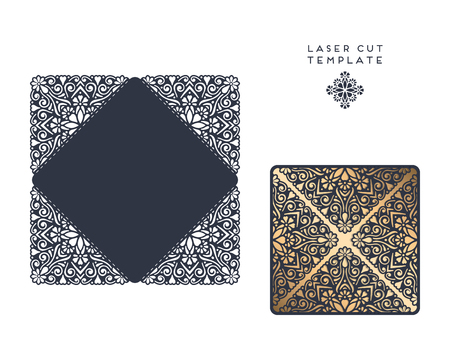 Laser Cut Template Envelope, Wedding Card Invitation Royalty Free ...