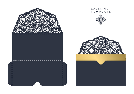 laser cut template envelope, wedding card invitation