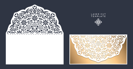 cut: laser cut template envelope, wedding card invitation