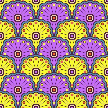 Modèle sans couture floral ethnique. Motif ornemental abstrait