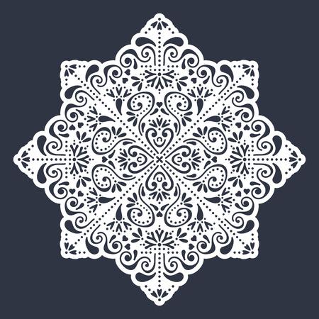 decorative pattern: Vector wedding card laser cut template. Vintage decorative elements. Hand drawn background. Islam, Arabic, Indian, ottoman motifs. Vector illustration