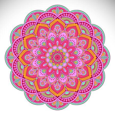 Ornament kaart met mandala. Geometrische cirkel element Stockfoto - 66288302