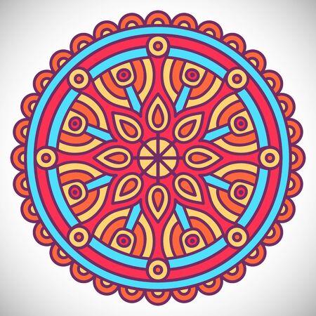 mystic: Ornament beautiful card with mandala. Geometric circle element made in vector