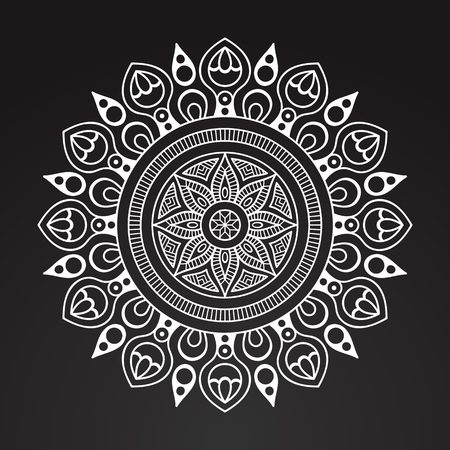 Vector Indian Mandala Illustration