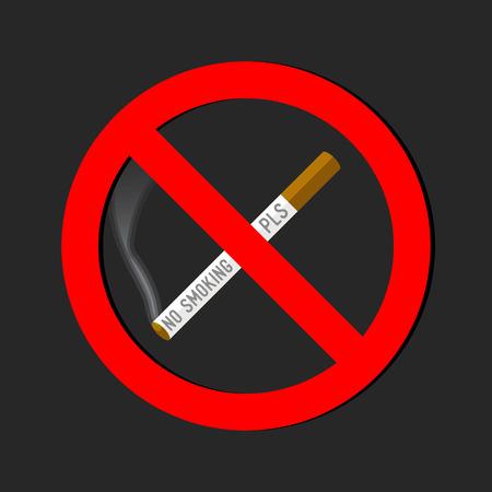 smoldering: No smoking sign on white background