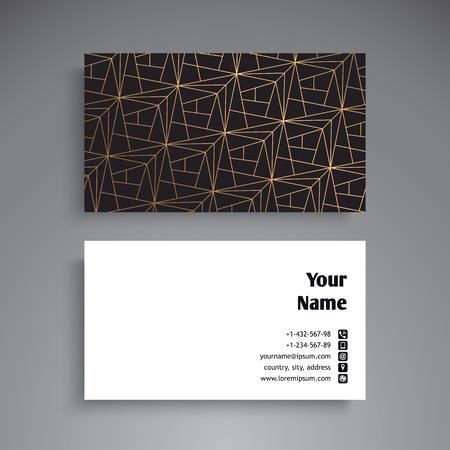 Business Card. Vintage decorative elements. Ornamental floral business cards, oriental pattern, vector illustration Stock Vector - 80116886