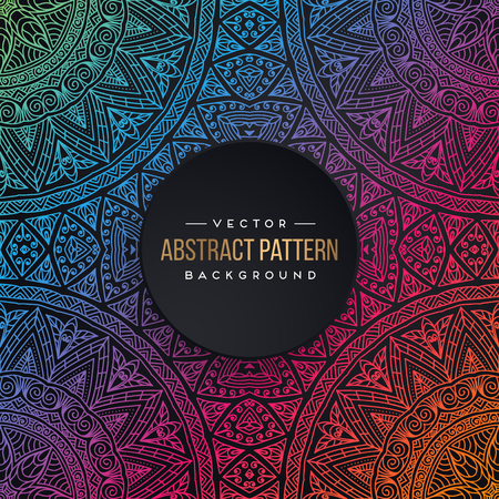 patchwork: Ethnic floral seamless pattern with mandalas Illustration