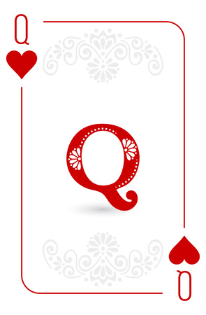 Poker cards full set four color classic design  イラスト・ベクター素材