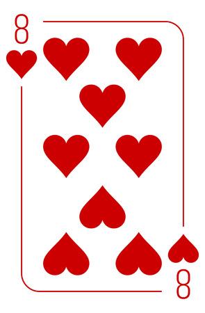 gambler: Poker cards full set four color classic design Illustration