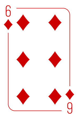 Poker cards full set four color classic design Illustration