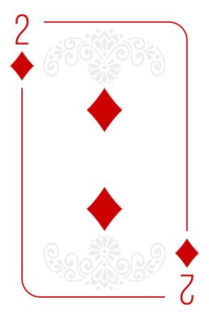 Poker cards full set four color classic design 向量圖像