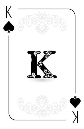Pokerkarten voller Satz vier Farben klassisches Design Standard-Bild - 87521169