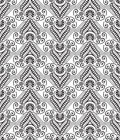 patchwork: Ethnic floral seamless pattern. Abstract ornamental pattern Illustration