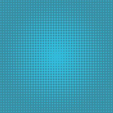 Light BLUE vector illustration which consist of circles. Dotted gradient design for your business. Creative geometric background in halftone style with colored spots.