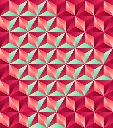 Geometric seamless pattern on plain background. Illustration