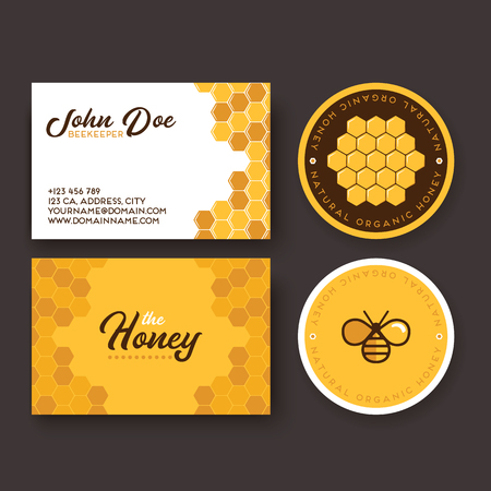 Corporate identity design for bee business products.
